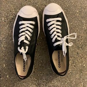 Jack Purcell black leather men's size 9